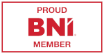 BNI forty foot logo in red